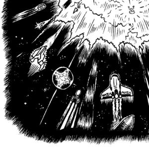 Comic   Der Asteroid III